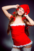 Sexy santa helper girl — Stock Photo