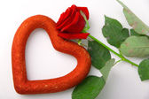 Rose e cuore — Foto Stock