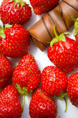 Strawberry and chocolate — Stock Photo