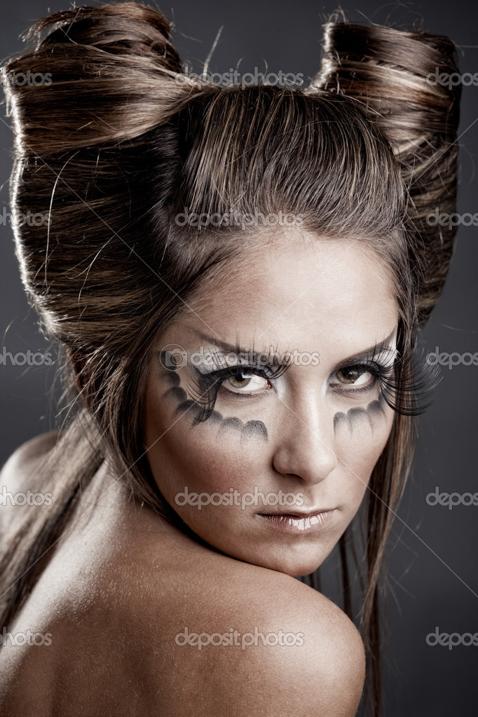 Прическа на хэллоуин своими руками фото