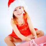 Cute Santa girl — Stock Photo
