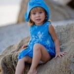 Little girl at beach — Stock Photo #1251256
