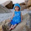 Little girl at beach — Stock Photo