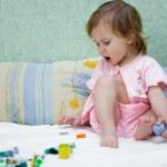 Playing little baby girl — Stock Photo #1251924