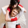 Angel and devil — Stock Photo #1178338