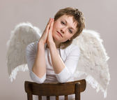 Pensive angel — Stock Photo