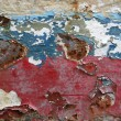 Eroded old paint on metal surface — Stock Photo #1184509
