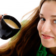 Woman with coffee cup — Stock Photo #1186201