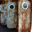 Old  rusted doors with portholes — Stock Photo