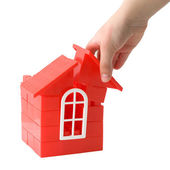 Plastic doll`s house — Stock Photo