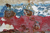 Eroded old paint on metal surface — Stock Photo