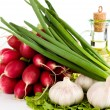 Fresh radish bunch — Stock Photo