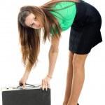 Woman and attache case — Stock Photo #1247027
