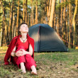 Relaxation in forest — Stock Photo