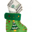 Sock with money — Stock Photo