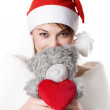 Young girl with teddy-bear — Stock Photo #1265049
