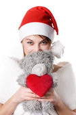 Young girl with teddy-bear — Stock Photo
