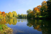 Autumn on the lake — Stock Photo