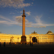 Sunset sky on St.-Petersburg - Stock Photo