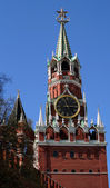Spasskaya Tower Top at the Red Square — Stock Photo