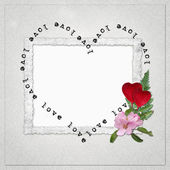 Background with frame and heart — Stock Photo