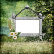 Royalty-Free Stock Photo: Background with frame and flowers