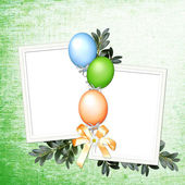 Green background with balloons — Stock Photo