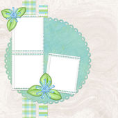 Grunge papers design in scrapbooking sty — Stock Photo
