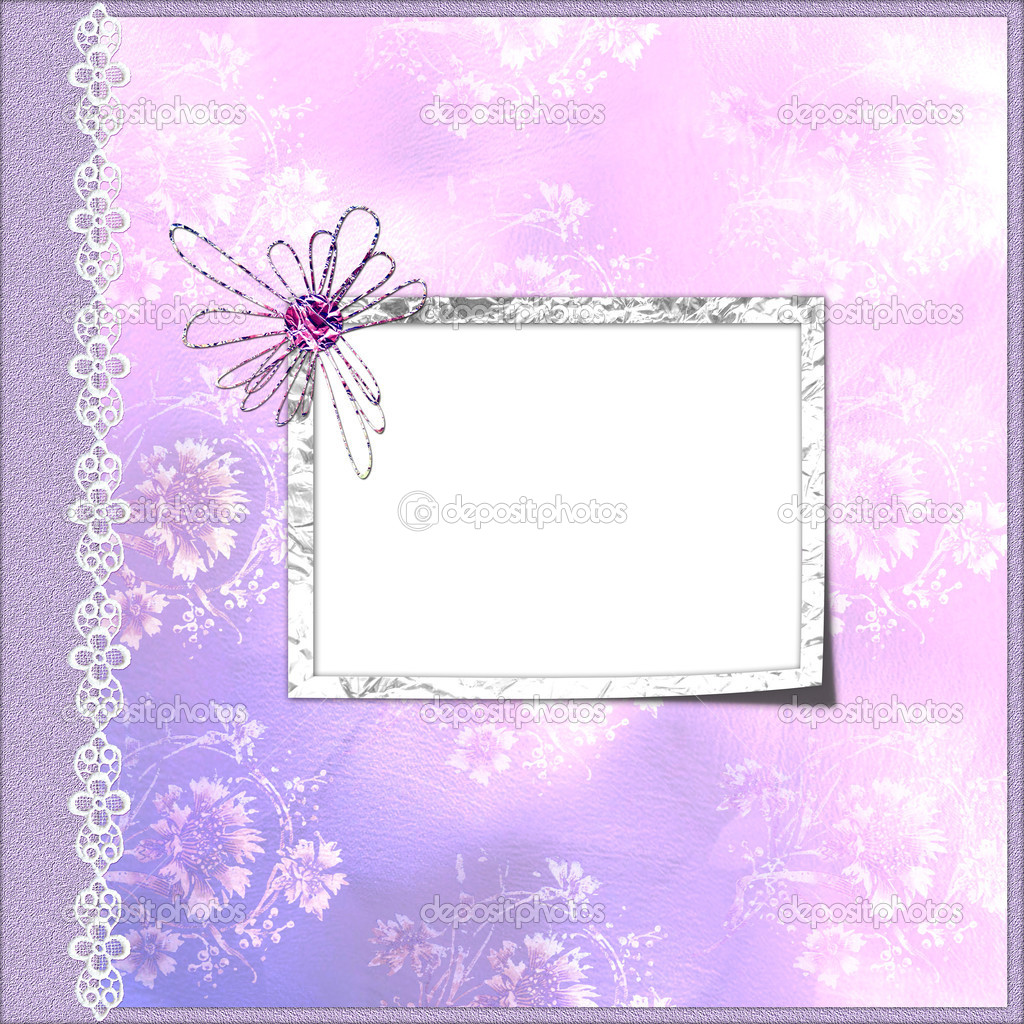 Purpel cover for an album with frame — Stock Photo #1177523