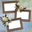 Abstract background with frames and flow — Stock Photo #1188603