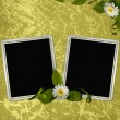 Background with frame and flowers — Stock Photo #1189272