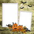 Stock Photo: Halloween frame on textured background