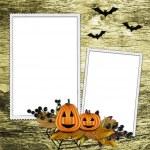Halloween frame on textured background — Stock Photo