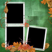 Green abstract background with frames an — Stock Photo