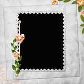 Abstract background with frame and flowe — Stock Photo