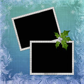 Background with frame and embellishment — Stock Photo
