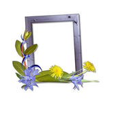 Frame with flowers — Stock Photo