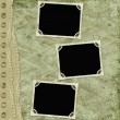 Green abstract background with frames — Lizenzfreies Foto
