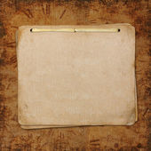 Blank note paper on vintage background — Stock Photo