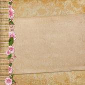 Vieux papier sur fond texturé — Photo