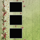 Background with frame and flowers — Stock Photo