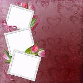 Lovely frame for Valentine — Stock Photo