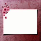 Blank note paper on textured background — Stock Photo