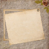 Grunge paper design for information — Stock Photo