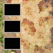 Picture Frames on vintage background. — Stock Photo