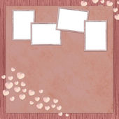 Background with frames and hearts — Stock Photo