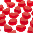 Stock Photo: Jelly heart on white background
