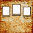 Retro background with decorative frames — Stock Photo