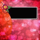 Lovely frame for Valentine's day — Stock Photo