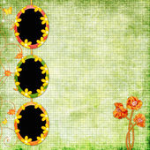 Spring background with frames — Stock Photo